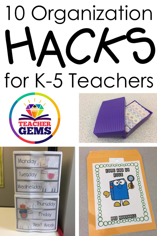 10 Organization Hacks for K-5 Teachers Image
