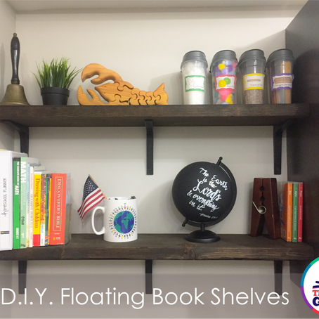 $10 D.I.Y. Floating Book Shelves