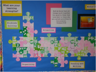 Bulletin Board Puzzle Pieces
