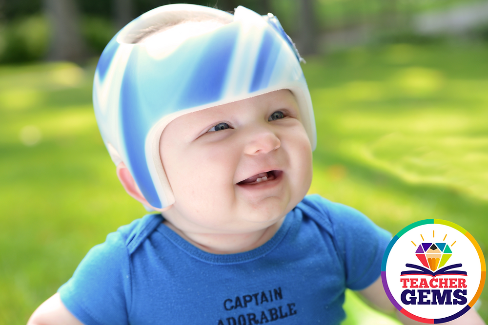 Baby with a Helmet Picture