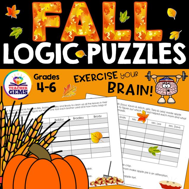 Fall Logic Puzzles