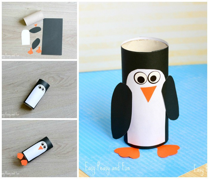 Toilet Paper Roll Penguin