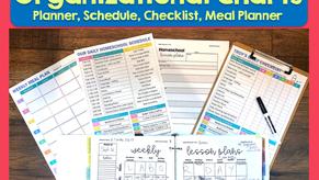 Printable Homeschool Schedule, Planner, Checklist & More!