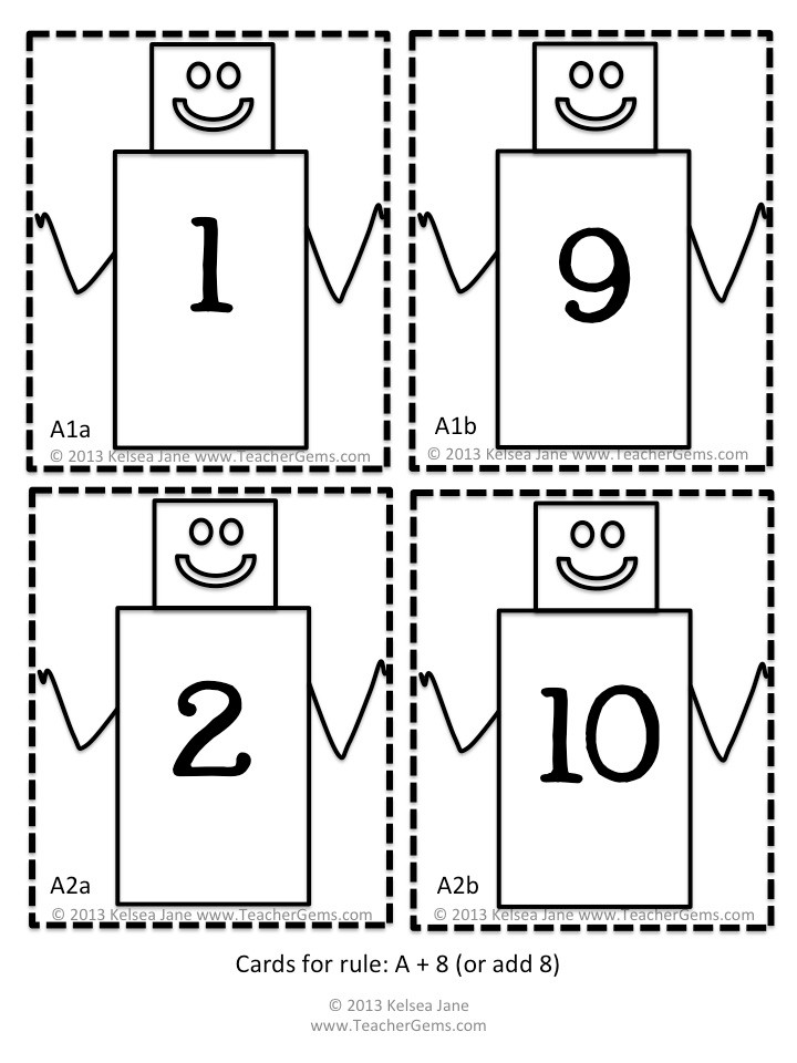 What's my Rule Math Robot Cards