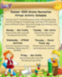 2020 Virtual Schedule