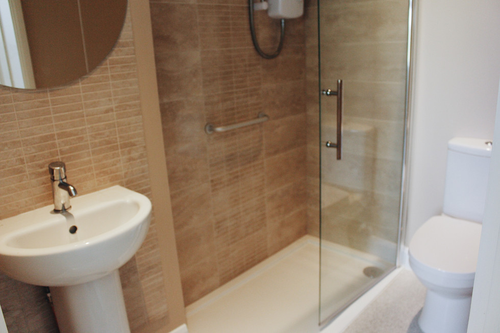 Newly renovated bathroom at our Euroclydon Homes