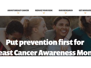 October: Breast Cancer Awareness Month