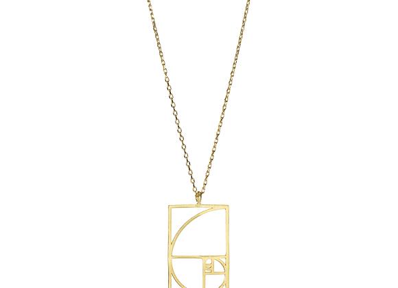 Sacred Geometry - Golden Spiral Necklace