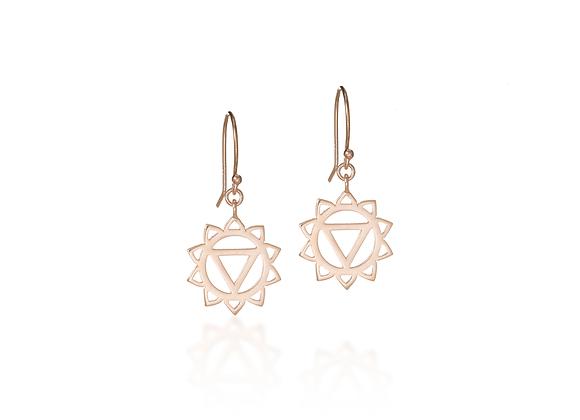 Solar Plexus Chakra Dangle Earrings