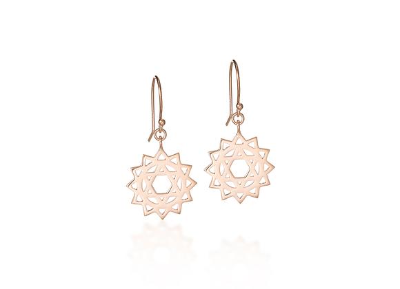 Heart Chakra Dangle Earrings