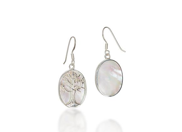 Tree Of Life Oval Earrings
