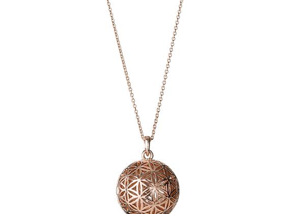 Flower of Life Globe Locket Necklace