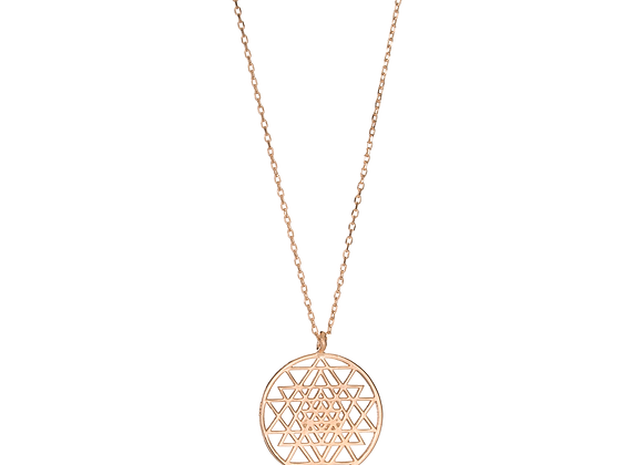 Sacred Geometry - Sri Yantra Necklace