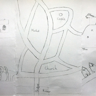 Map of Totnes fold-out