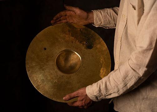 """Handmade 15.5"""" brass gong"""