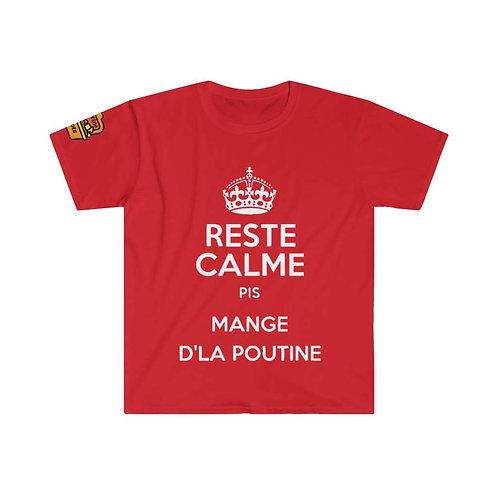 T-Shirt Reste calme pis mange dl'a Poutine
