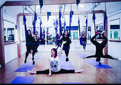 My Gravity Fitness and Dance Hen parties, Birthday Parties, Antigravity yoga party
