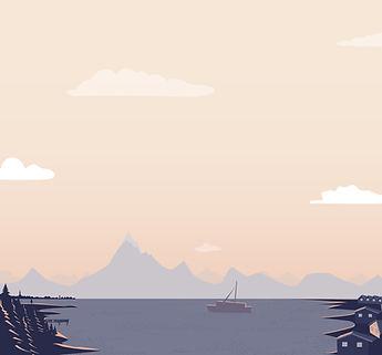 Barco en un lago