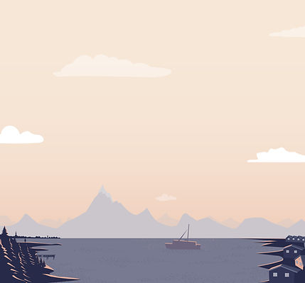 Boot op een meer