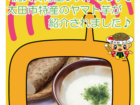 太田特産のヤマトイモがTVで紹介されました