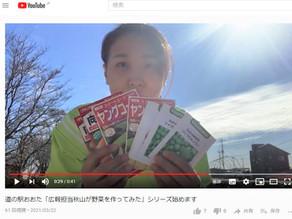 YouTubeで「広報担当秋山が野菜を作ってみた」シリーズ配信開始