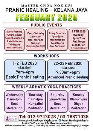 Kelana Jaya Schedule 2020 February