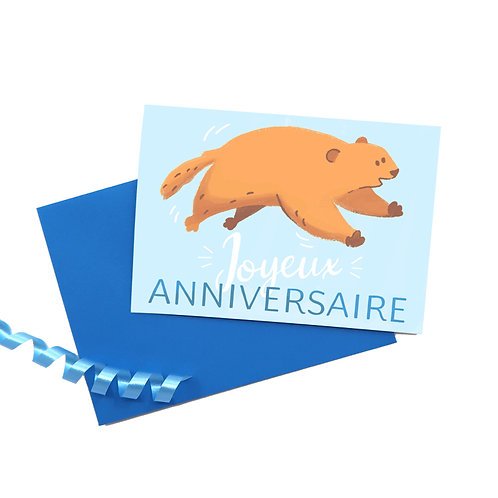 """Carte """"Joyeux anniversaire"""" & Enveloppe"""