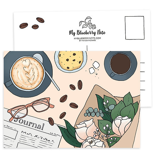 "Carte "" Café & Journal"""