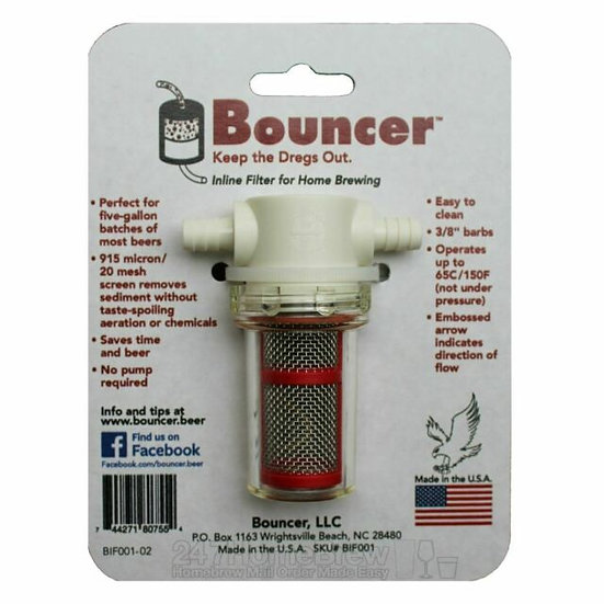 Bouncer Inline Filter for Home Bbrewing