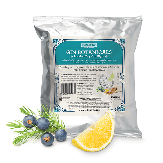 Gin Botanicals, London Dry Gin Style, Still Spirits 50 g