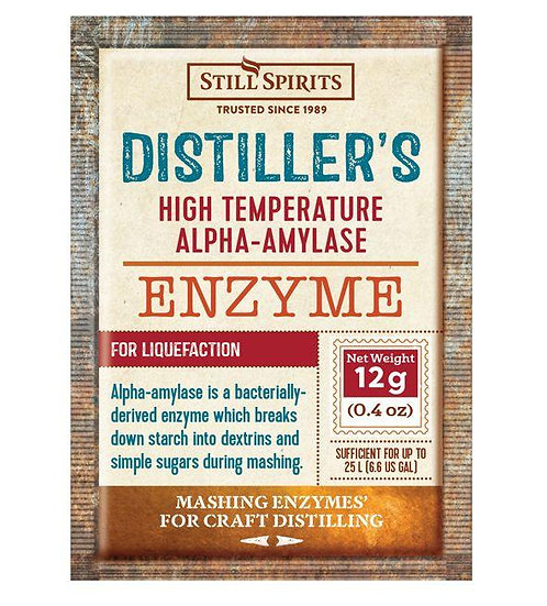 Distiller's High Temperature Alpha-Amylase Still Spirits 12g