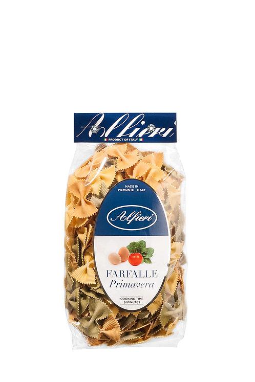 Alfieri Pastificio, FARFALLE 'PRIMAVERA' WITH EGG, SPINACH AND TOMATO bag 500g