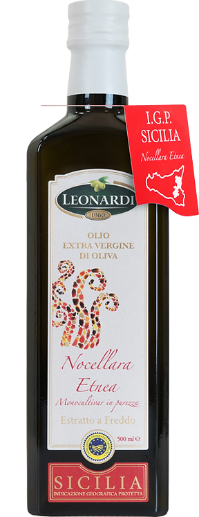 Leonardi, EXTRA VIRGIN OLIVE OIL NOCELLARA ETNEA - PGI SICILY 50cl