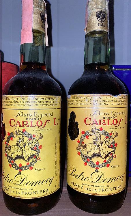 Pedro Domecq, Carlos I Brandy bottle 50/60's 42.0% 75cl