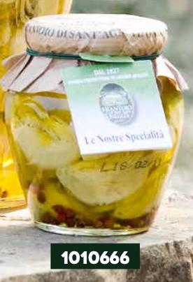 Frantoio Sant'Agata, 'EXTRA' ARTICHOKES in E/V olive oil (white heart) 290g