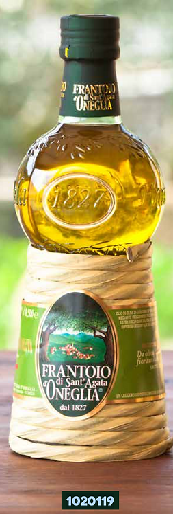Frantoio Sant'Agata, E/V OLIVE OIL GRAN CRU TAGGIASCO in straw bottle 500ml