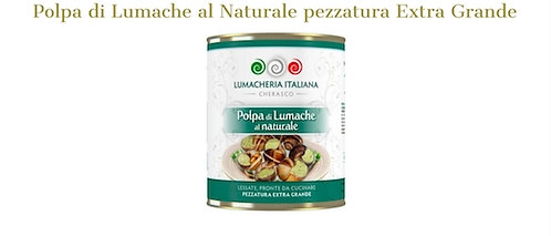Lumacheria Italiana, natural snails meat 850g - extra big size - drained 450g