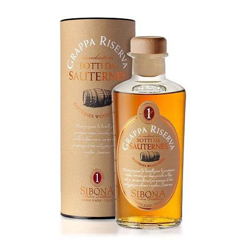 Antica Distilleria Sibona, Grappa Riserva Sauternes Wood 44.0% 50cl