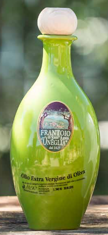 Frantoio Sant'Agata, EXTRA VIRGIN OLIVE OIL 'BUON FRUTTO' IN GREEN CERAMIC 50cl