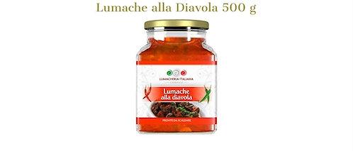 Lumacheria Italiana, SNAILS WITH SPICY SAUCE - CHILLI PEPPER 500g - glass jar