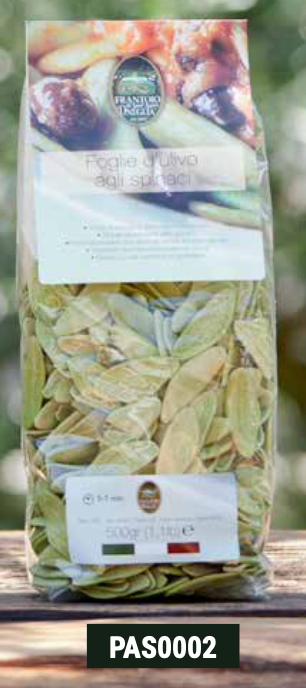 Frantoio Sant'Agata, PASTA GREEN LEAF'S OLIVES DURUM WHEAT SEMOLINA 500g