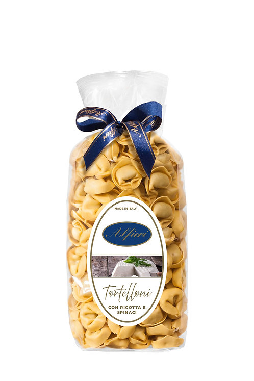 Alfieri Pastificio, TORTELLONI FILLED WITH CHEESE (RICOTTA) AND SPINACH bag 500g