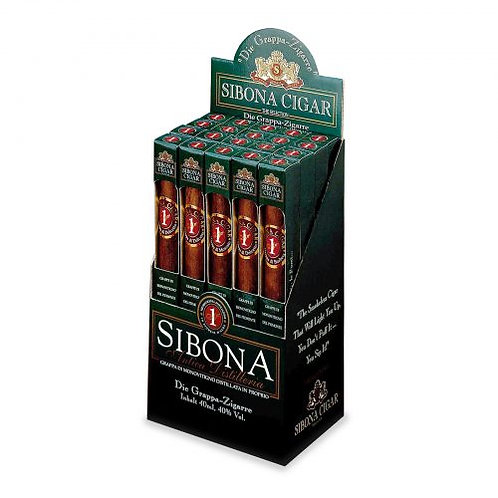 Antica Distilleria Sibona, Grappa Barbera 'Sibona Cigar' 4cl