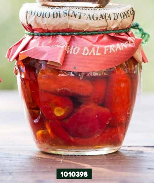 Frantoio Sant'Agata, WHOOLE HOT PEPPERS in E/V olive oil orcio jar 190g