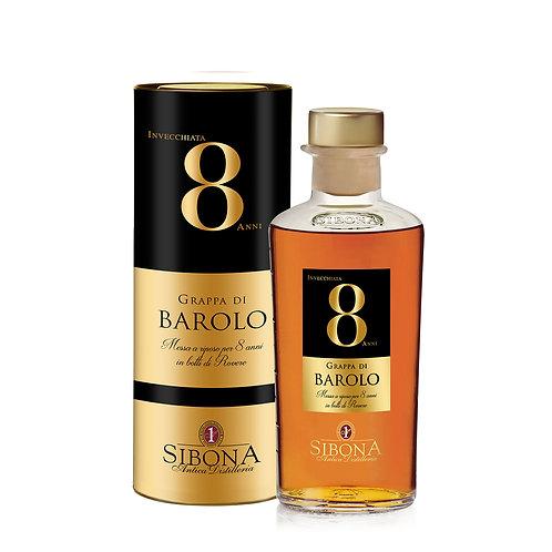 Antica Distilleria Sibona, Grappa Riserva Barolo 8 Years Old 44.0% 50cl