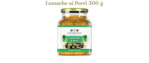 Lumacheria Italiana, snails with leek 500g - glass jar