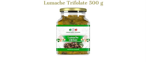 Lumacheria Italiana, snails with parsley and garlic 500g - glass jar
