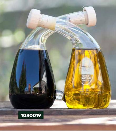 Frantoio Sant'Agata, INTRECCIO SET - Olio E/V 100ml + Balsamic Vinegar 100ml