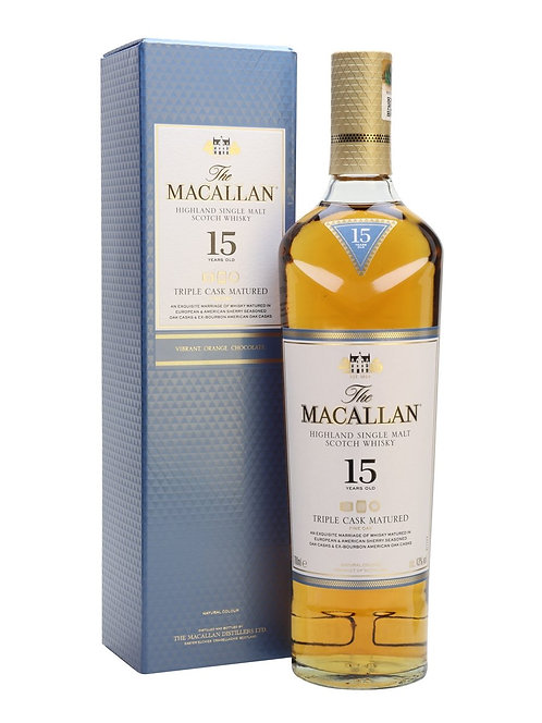 Macallan 15 Year Fine Oak Whisky Speyside Single Malt Scotch 43.0% 70cl