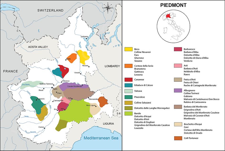 Piemont wines London Wine Deliveries